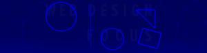 Надпись на синем фоне Web Design Focus на с