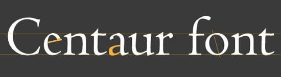 Centauer Font