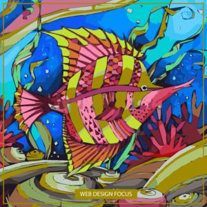 Рыбка батик Иллюстрация