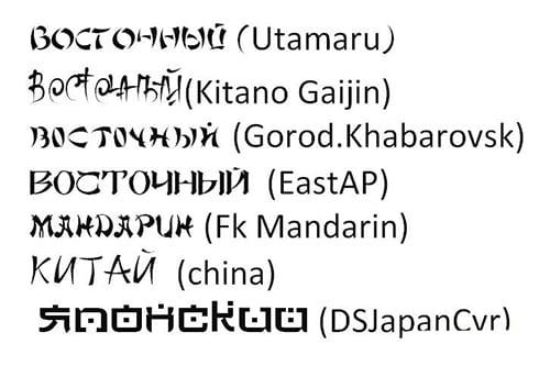 Восточный шрифт